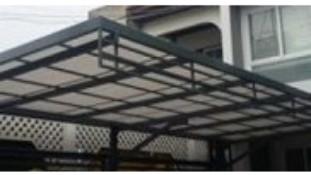 หลังคาโรงรถมินิโกลด์ +โครงเหล็ก มบ.ชัยวิวัฒน์ พงษ์เพรช